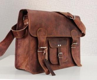 bag leather messenger bag