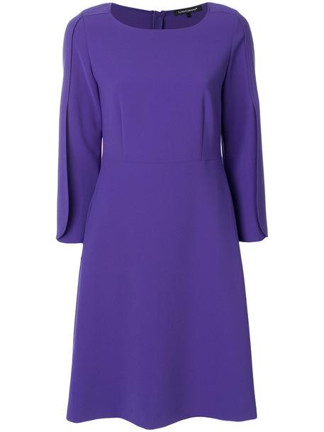 Luisa Cerano dress women purple pink