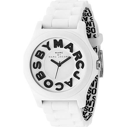 MARC BY MARC JACOBS - White unisex logo watch | Selfridges.com