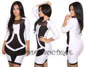 dress,plus size dress,plus size,curvy,black and white,black,white,black dress,mesh dress