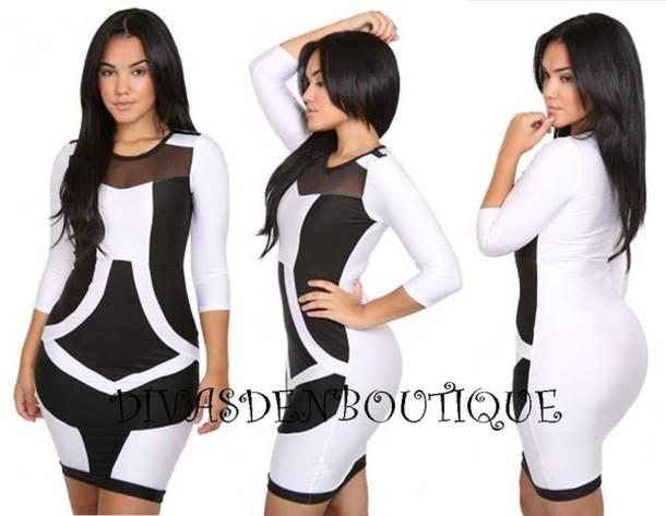 Dress Plus Size Dress Plus Size Curvy Black And White Black