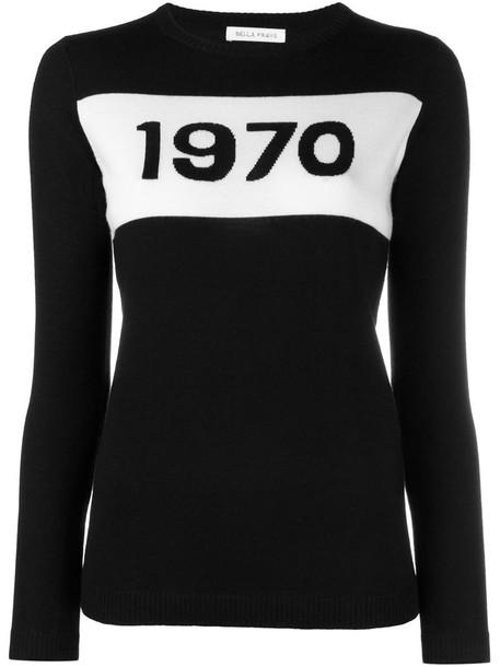 Bella Freud - 1970 sweater - women - Wool - L, Black, Wool