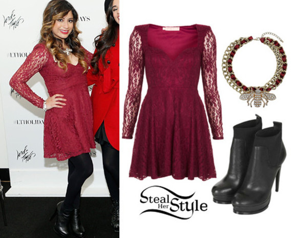 red lace lace dress lace red lace dress Ally Brooke Fifth Harmony