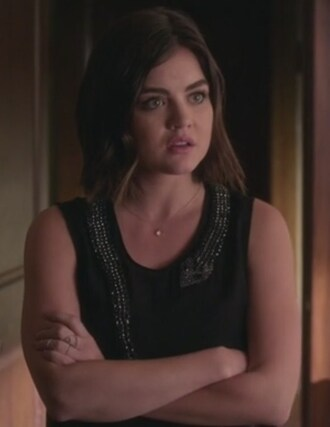 top black tank top aria montgomery lucy hale pretty little liars