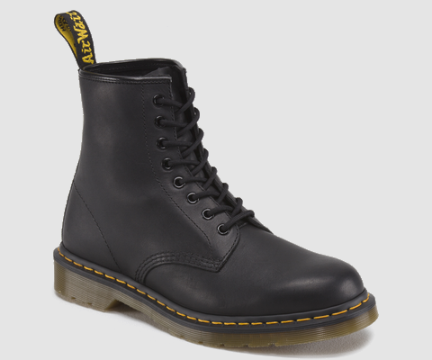 Dr Martens 1460 BLACK GREASY - Doc Martens Boots and Shoes