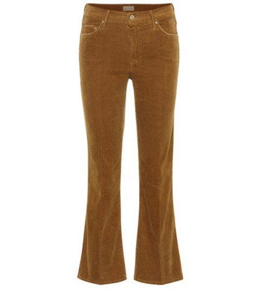 Mother The Outsider Cropped corduroy jeans in brown