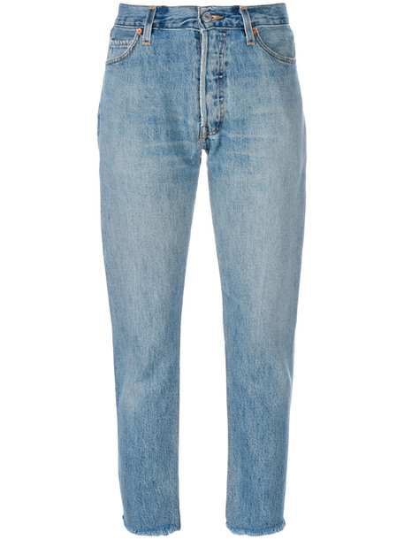 Re/Done jeans straight jeans women cotton blue