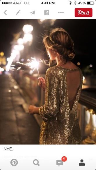 dress sequin dress backless dress