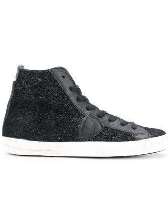 glitter paris women sneakers leather cotton black shoes