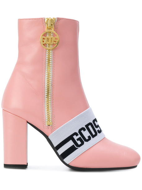 fur faux fur women boots ankle boots leather purple pink shoes