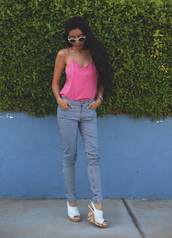 honey and silk,t-shirt,jeans,pants,shoes,jewels,sunglasses