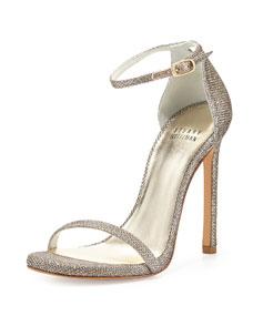 Strap sandal, platinum