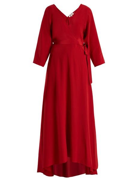 Diane Von Furstenberg gown silk red dress