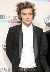 coat,harry styles,blazer,black,black blazer,amas 2014,one direction,harry,styles,white,menswear,prom menswear,mens blazer