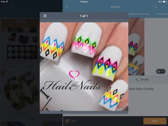nail accessories neon