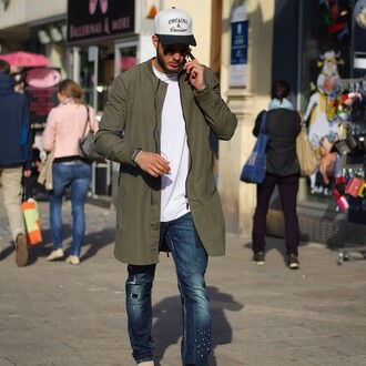 jacket maniere de voir longline bomber khaki