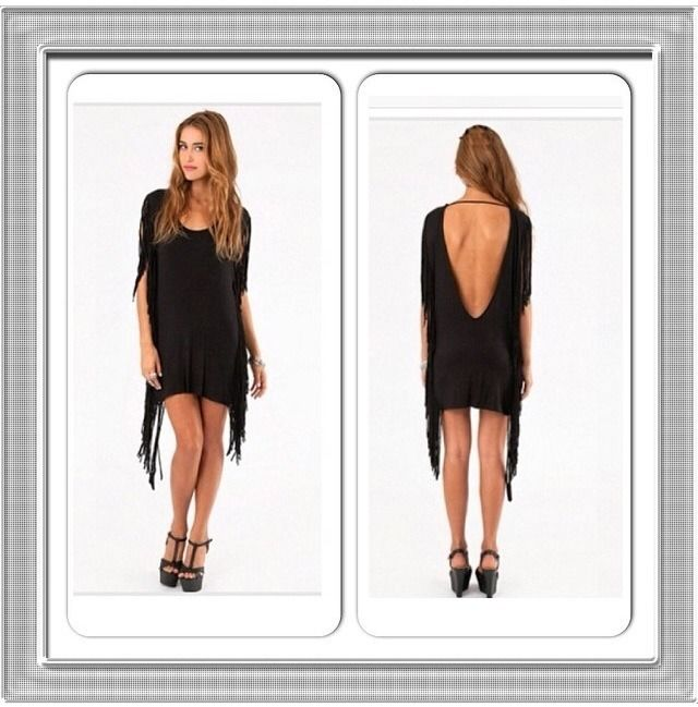 Tassel Backless Bodycon Dress Towie Boutique | eBay