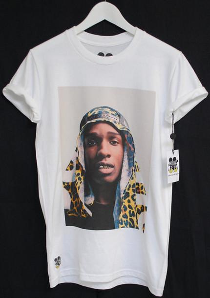 supreme shirt ASAP Rocky gold white asap mob dope