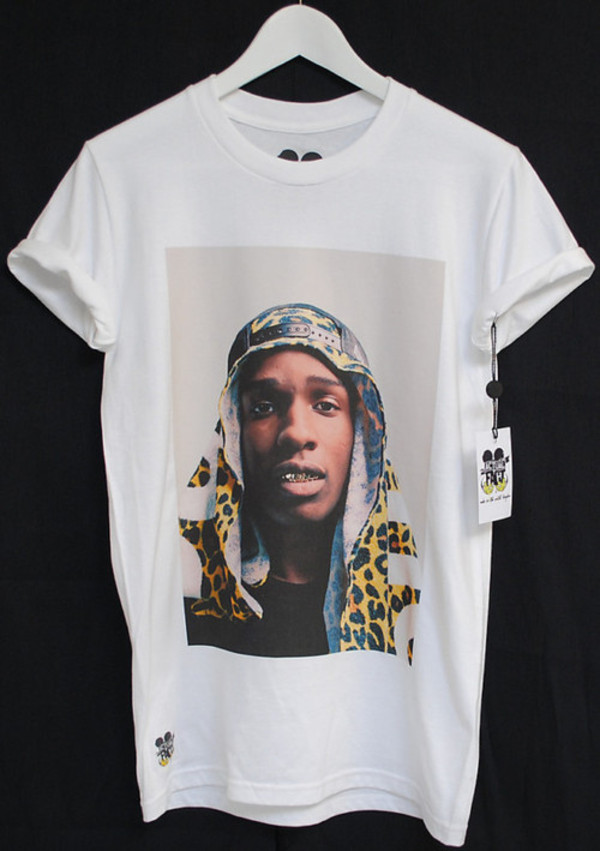 supreme shirt ASAP Rocky gold white asap mob dope