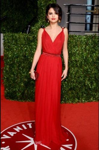 dress red dress selena gomez