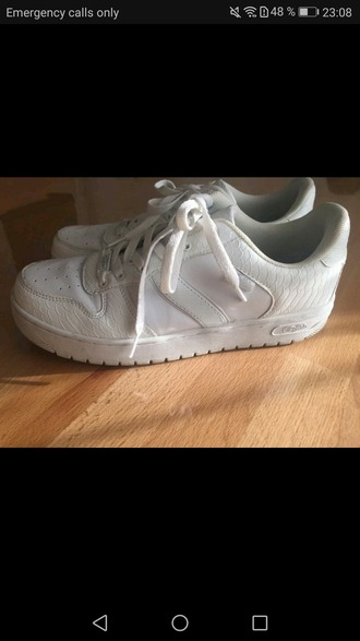 shoes buffalo shoes buffalo buffalos sneakers airforce 1 sneakers low fashion white white shoes hipster nike shoes nike