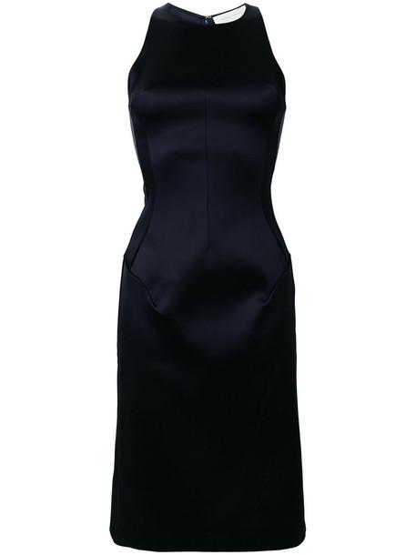 Esteban Cortazar dress halter dress women spandex blue