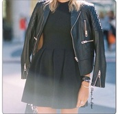 dress,black,summer dress,short dress,short prom dress,vintage,jacket,leather jacket