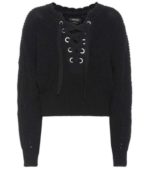 Isabel Marant Laley lace-up sweater in black
