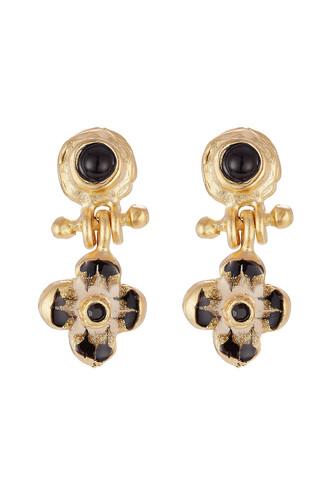earrings black jewels