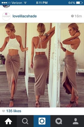 skirt wrap skirt draped top