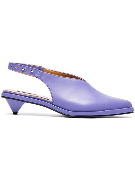 Reike Nen women pumps leather purple pink shoes