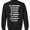 No homophobia sweatshirt back