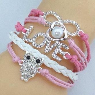jewels owl bracelets infinite bracelets