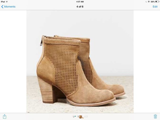 shoes aeo perforated bootie