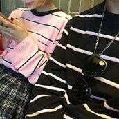 sweater,itgirl shop,kfashion,korean fashion,fashion,tumblr,southkorean,ulzzang,streetstyle,aesthetic,clothes,apparel,kawaii,cute,women,indie,grunge,pastel,kawaiifashion,pale,style,online,kawaiishop,freeshipping,free,shipping,worldwide,palegoth,soft grunge,softgoth,minimalist,inspiration,outfit,itgirlclothing,sweatshirt,stripes,black,white,long sleeves