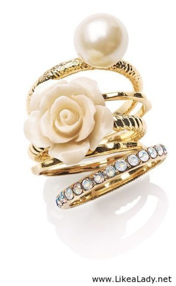 pearl jewels white rose gold jewelry diamonds