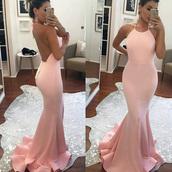 dress,dressesofgirl,pink prom dress,prom dress,long prom dress,mermaid prom dress,satin prom dresses,halter prom dresses,prom gowns,sexy prom dress