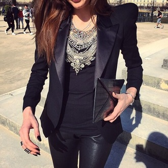 jewels jewerly necklace big necklace silver necklace jewerly tops col collier argenté evening outfits