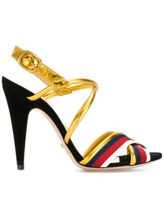 metallic women sandals leather shoes