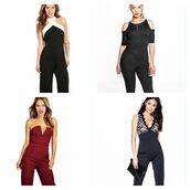 jumpsuit,boohoo jumpsuit,color block jumpsuit,black jumpsuit,black and white jumpsuit,red jumpsuit