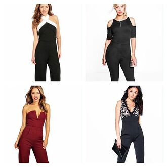 jumpsuit boohoo jumpsuit color block jumpsuit black jumpsuit black and white jumpsuit red jumpsuit