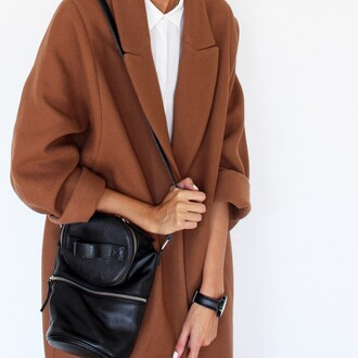 coat jacket brown brown coat oversized coat
