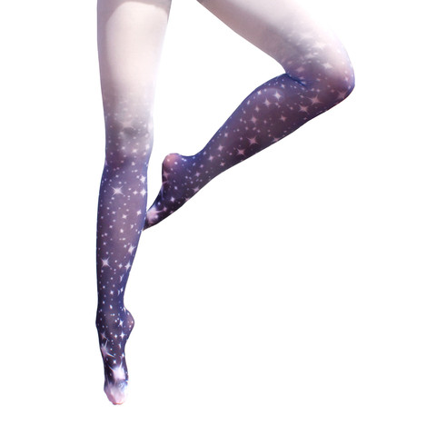 Stardust Ombre Tights | Shadowplaynyc | Galaxy Print Clothing