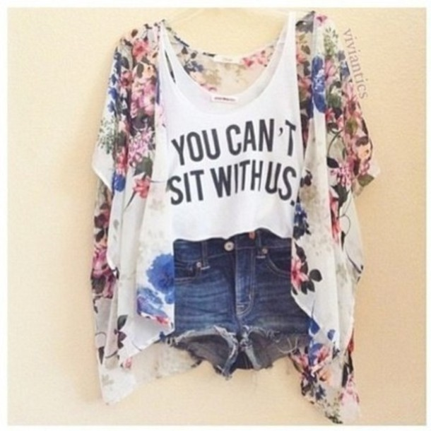 Tank top: you can't sit with us, top, t-shirt, printed t-shirt ...