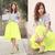 Bright Yellow Midi Skater Skirt | Choies
