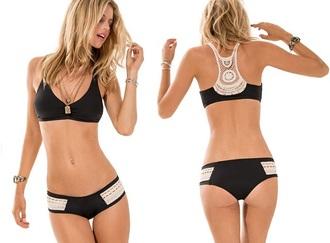 swimwear sports bra black swimwear lace top