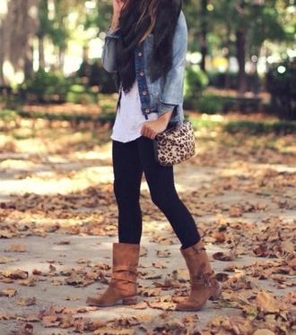 jacket shirt bag leopard print shoulder bag scarf leopard print shoulder bag black scarf