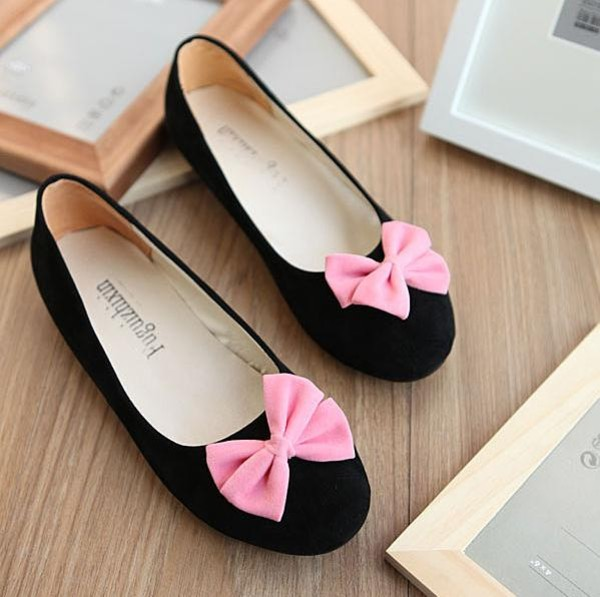 shoes ballet flats black flats bows bow flats
