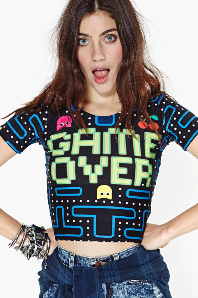 WhoCaresNYC? Game Over Crop Top in  Clothes at Nasty Gal
