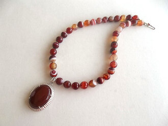 jewels necklace agate necklace agate jewelry sterling silver women jewelry handmade necklace stone necklace
